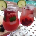 Non Alcoholic Cocktail Recipe, Cherry Lime Spritzer