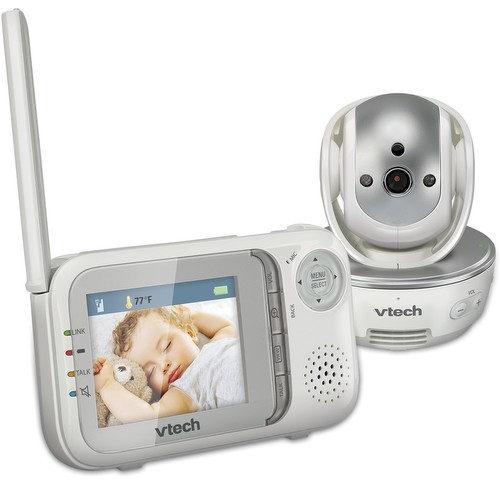 vtech safe sound pan tilt color video monitor extra eyes for active babies and busy moms. Black Bedroom Furniture Sets. Home Design Ideas