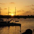 sunset over the bay, Bahia Hotel, San Diego
