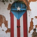 Puerto Rican Flag Door, Old San Juan
