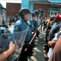 SWAT police and protestors come face to face in Ferguson, MO