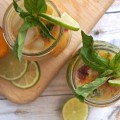 Skinny Mojitos Nectarine, Lime and Basil