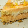 Slice of Frozen Creamsicle Pie with Twinkies