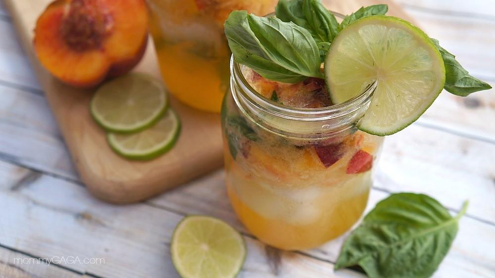 Nectarine drinks - Summer Nectarine Mojitos with Basil