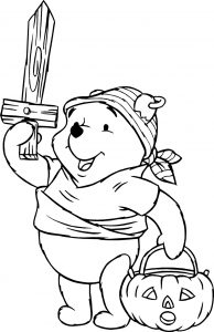 Disney's Winnie the Pooh coloring pages Halloween