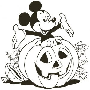 Free Disney Mickey Mouse Halloween coloring pages printable