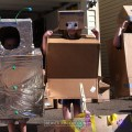 Kids build boxes with The Boxtrolls and Imagination Foundation