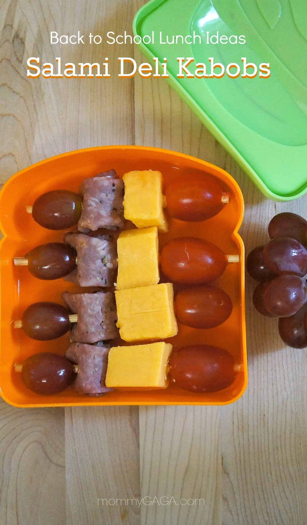 School lunch idea Salami Deli Kabobs for School Lunch