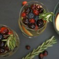 Cranberry Rosemary White Wine Christmas Sangria
