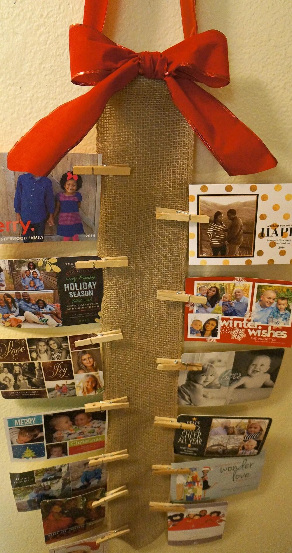 DIY Wall Christmas Card Holder - Honey + Lime