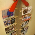 Homemade Burlap Christmas Card Holder, Hangs on the Wall