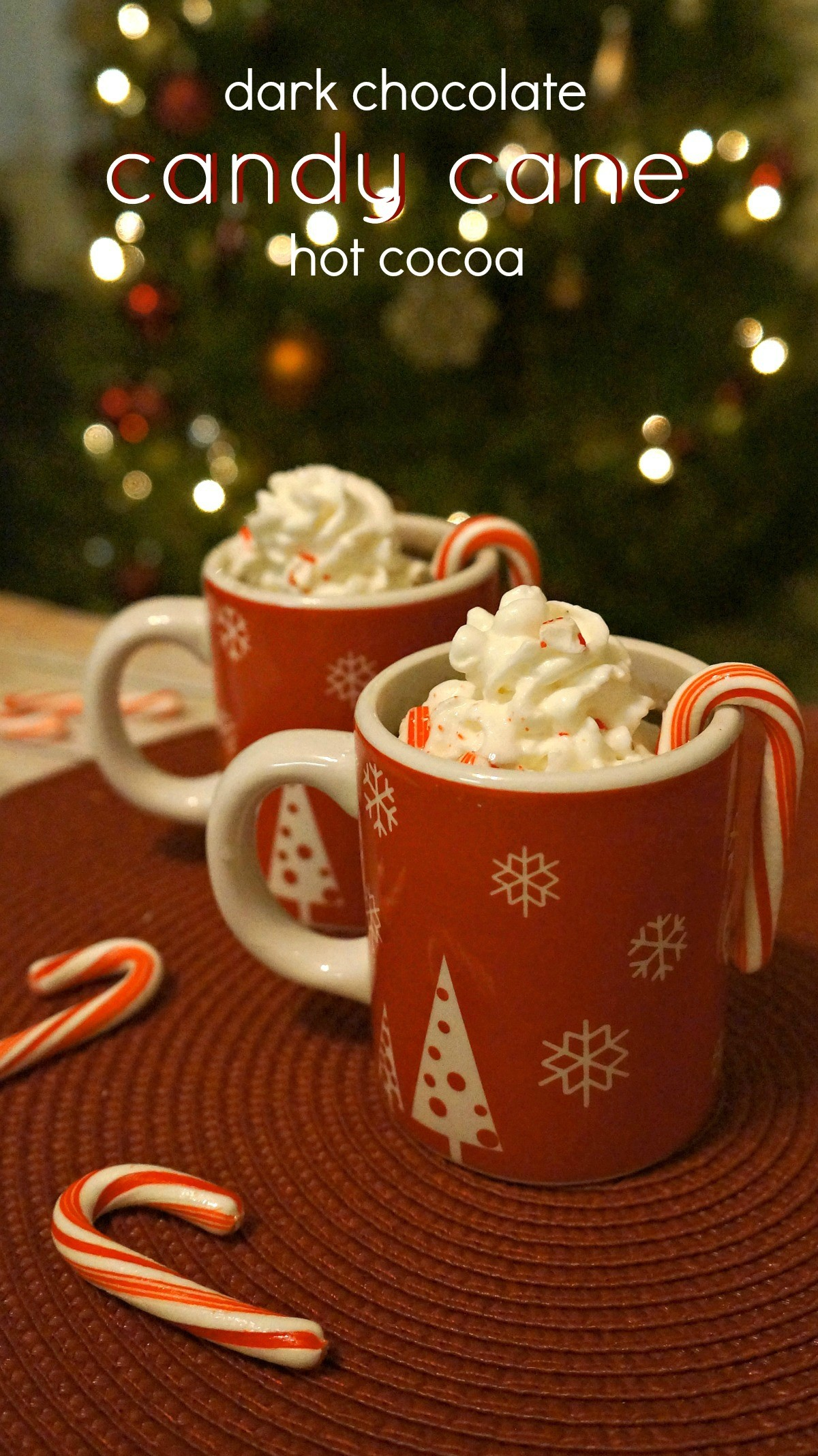 Homemade peppermint hot chocolate recipe - The holidays are here, which means we're making our favorite homemade peppermint hot chocolate! This is our favorite hot chocolate recipe from scratch!