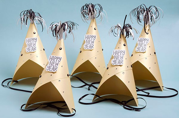 New Years paper party hats, Paper Source