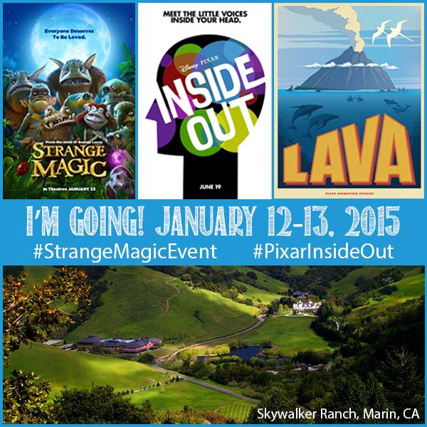 Disney Pixar Inside Out, Touchstone Pictures Strange Magic Event, and Skywalker Ranch Visit