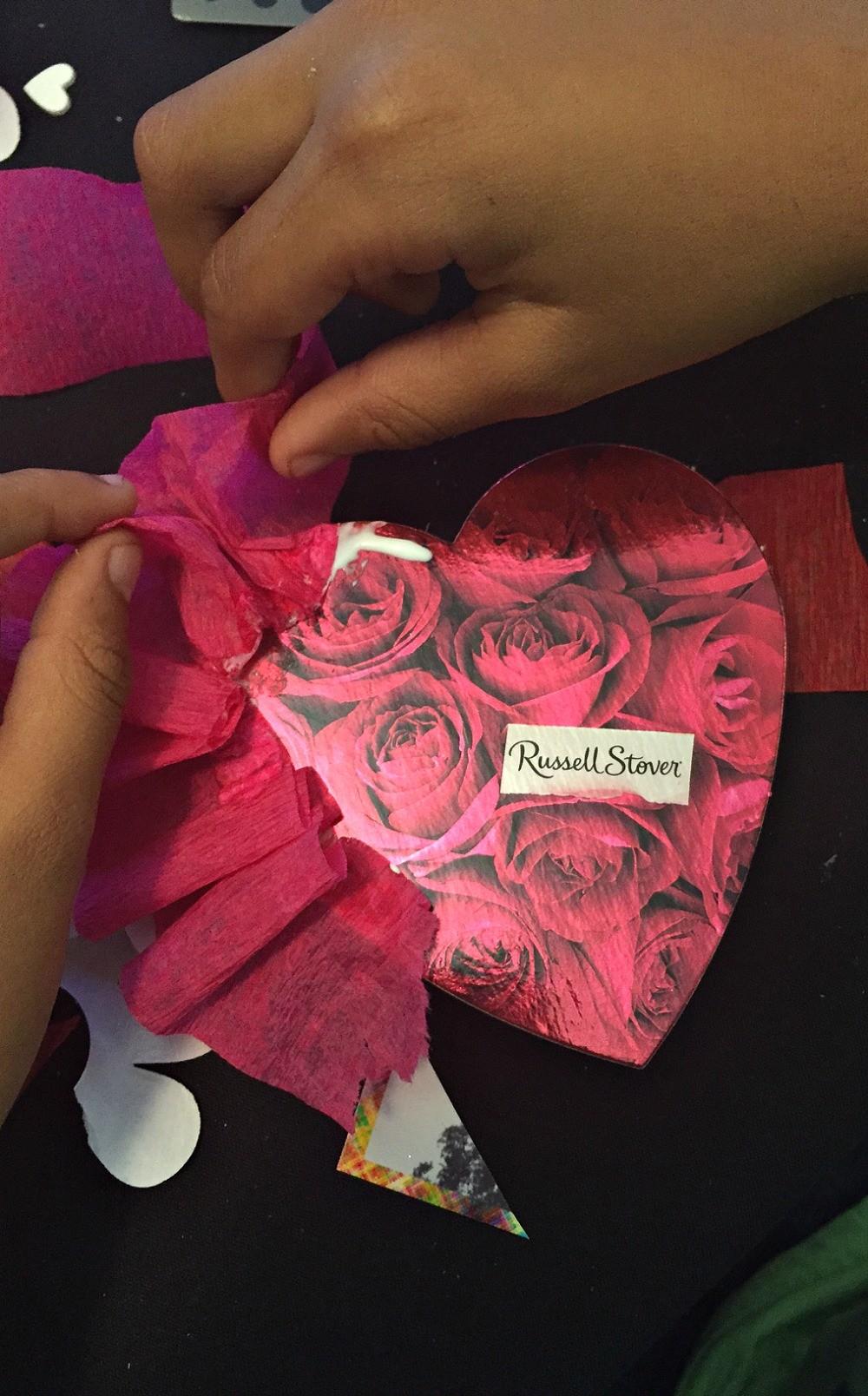 Making a Valentine's Day Photo Heart Chocolate Box Keepsake