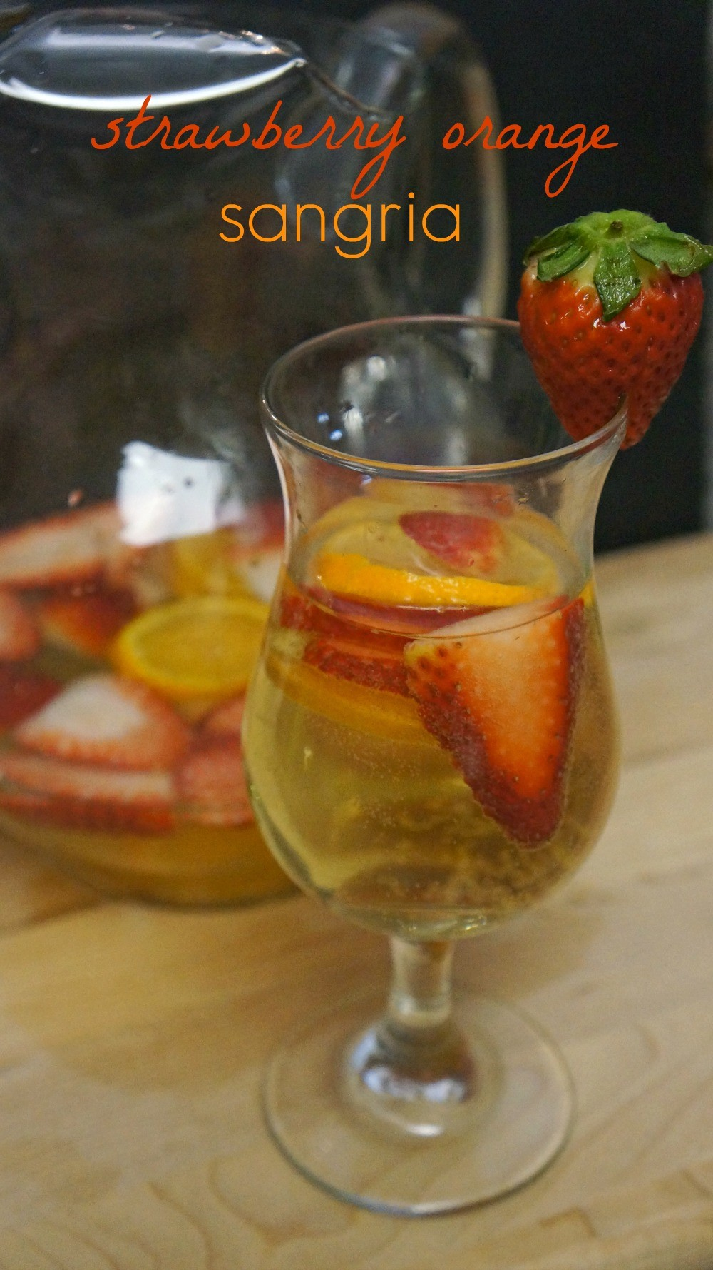 Strawberry Orange White Sangria