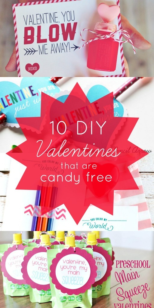 11 DIY Non-Candy Valentines For Kids - These Ideas Are Awesome! candy free Valentines | Valentines no candy | valentines day without candy | diy valentines no candy | non food valentines | valentines without candy | honeyandlime.co