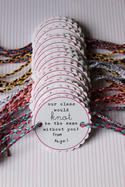 Friendship Bracelet Valentines, Dandee Designs