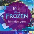 Frozen Birthday Party DIY Ideas, Purple, Pink and Blue Decor
