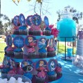 Frozen Birthday Party Ideas, Cupcake Toppers, Cupcake Stand and Blue Frozen Punch