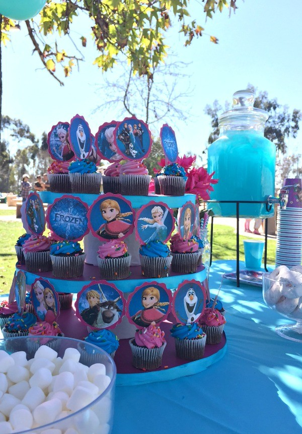Disney S Frozen Birthday Party Ideas Pink Purple Blue