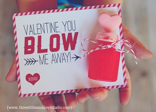 photograph about You Blow Me Away Valentine Printable named 11 Do-it-yourself Non-Sweet Valentines For Little ones - These kinds of Strategies Are Amazing!