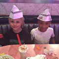 Corvette Diner family restaurant, kids get paper hats