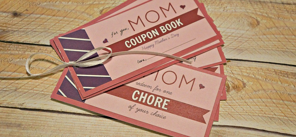 Do the chores for mom on Mother's Day, printable coupon book