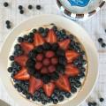 Summer Desserts: Easy Frozen Mixed Berry Vanilla Custard Pie