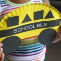 Cute school bus shapes paper plate back to school craft
