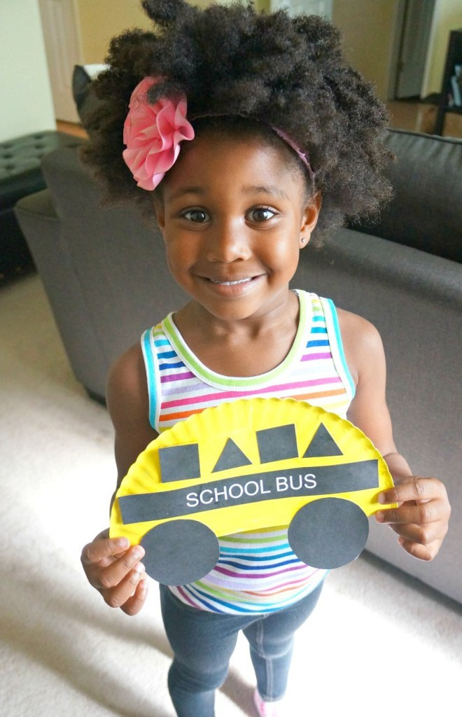 School bus art project - school bus theme preschool