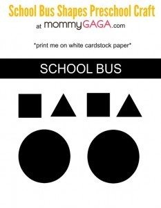 School bus shapes paper plate craft printable image