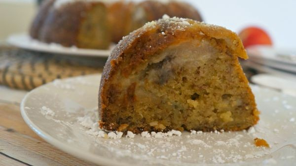 Slice of Summer Peach Banana Bundt Bread