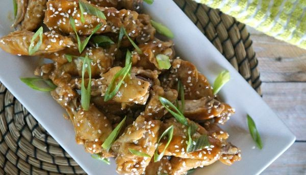 Thai Peanut Spiced Chicken Wings, a great appetizer or main course