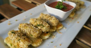 Easy Homemade Baked Mozzarella Sticks Appetizer
