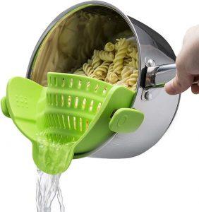 Easy pot pasta strainer collander