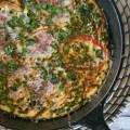 Sunday Brunch: Soy Chorizo, Herb & Heirloom Tomato Skillet Frittata