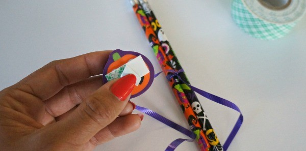 Learn how to make DIY Halloween Pencil Favors