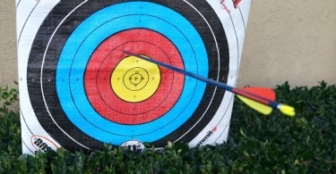 Genesis Bows archery arrow hit the target