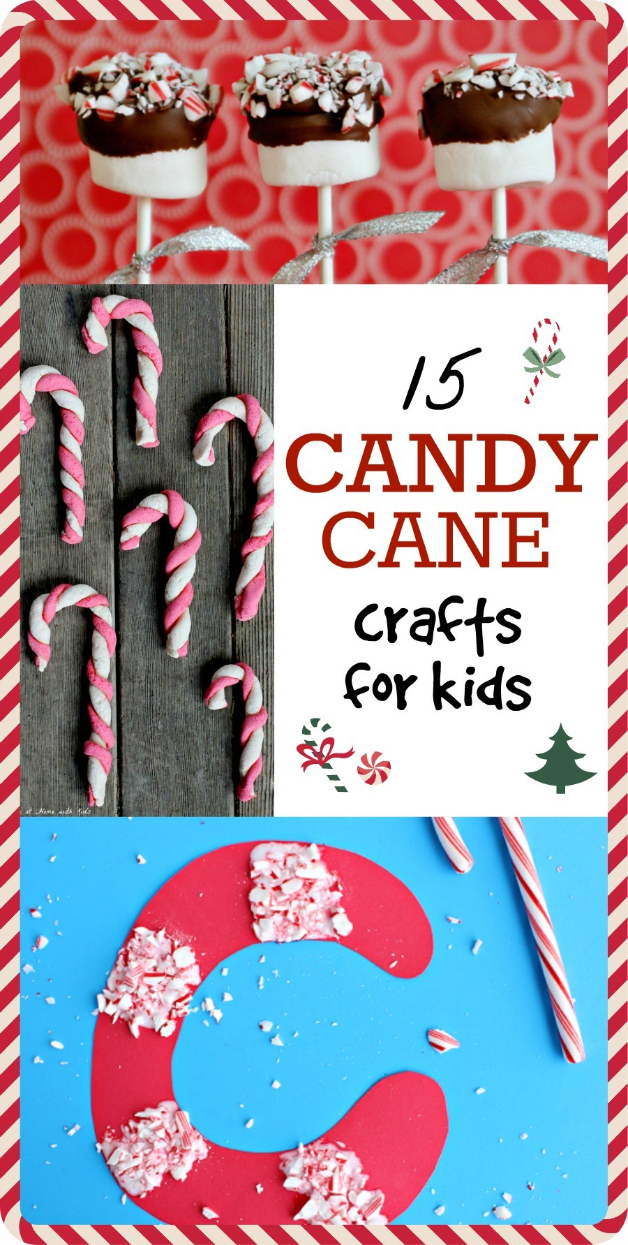 15 Cute Candy Cane Crafts For Kids - These are the cutest ideas!