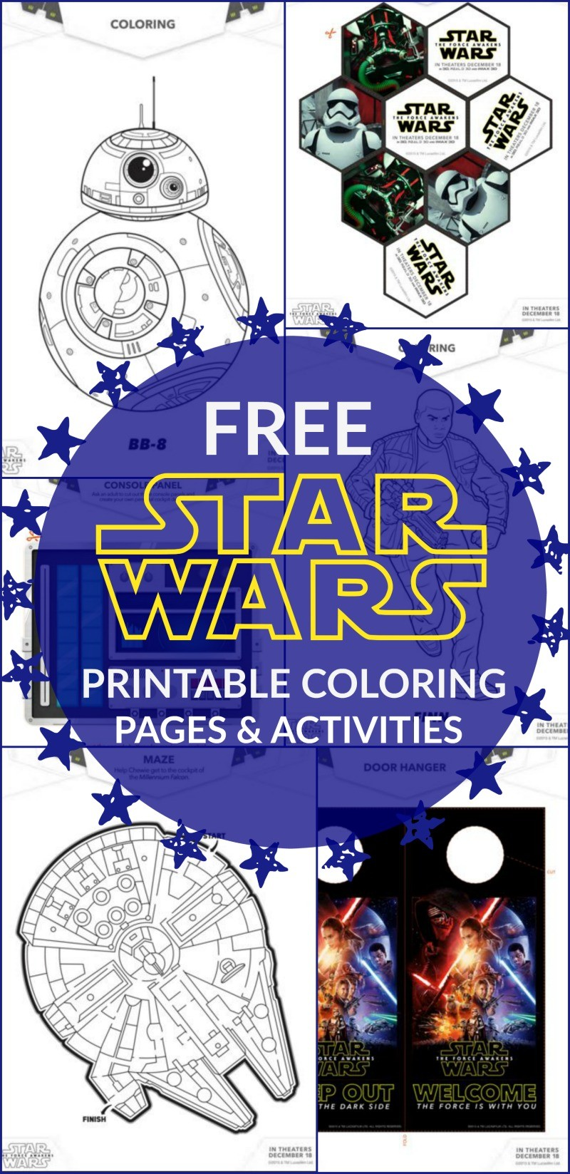 21 FREE STAR WARS THE FORCE AWAKENS ACTIVITIES AND COLORING PAGES TO PRINT