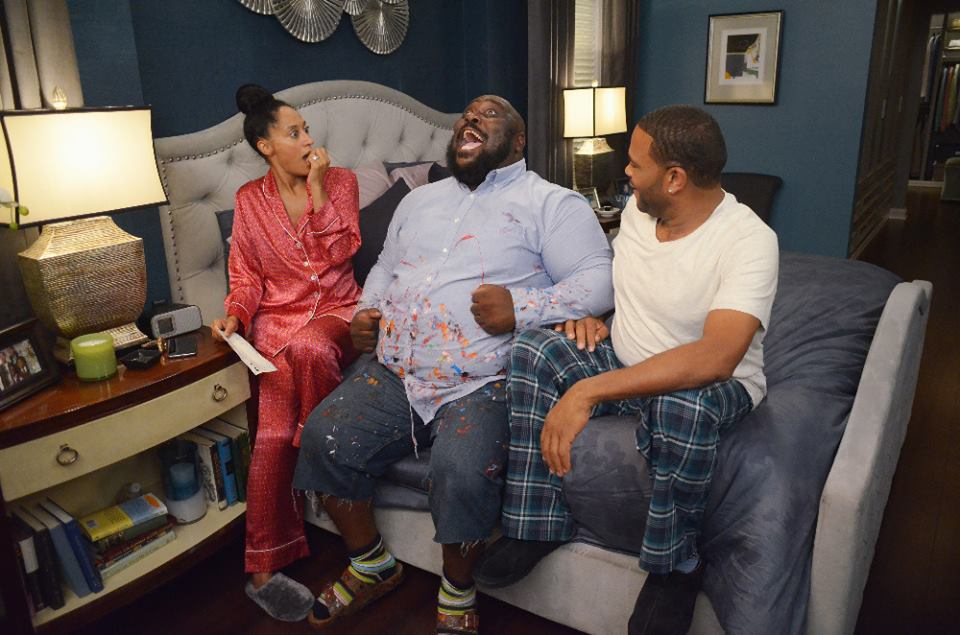 Black-ish ABC Man At Work, Tracee Elis Ross, Faizon Love, Anthony Anderson, ABC-Eddy Chen