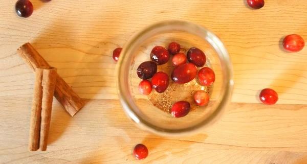 DIY Holiday Cranberry Orange Stove Top Potpourri, cranberries on the bottom