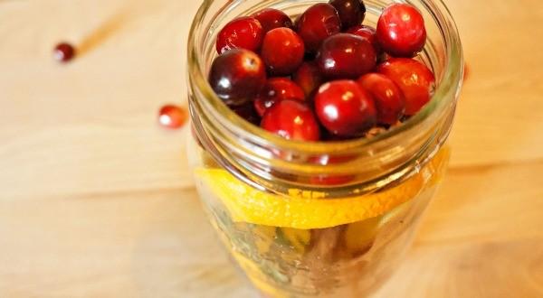 DIY Holiday Cranberry Orange Stove Top Potpourri, top with cranberries
