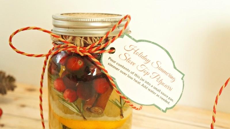 DIY Holiday Gift Jars, Cranberry Orange Simmering Stove Top Potpourri