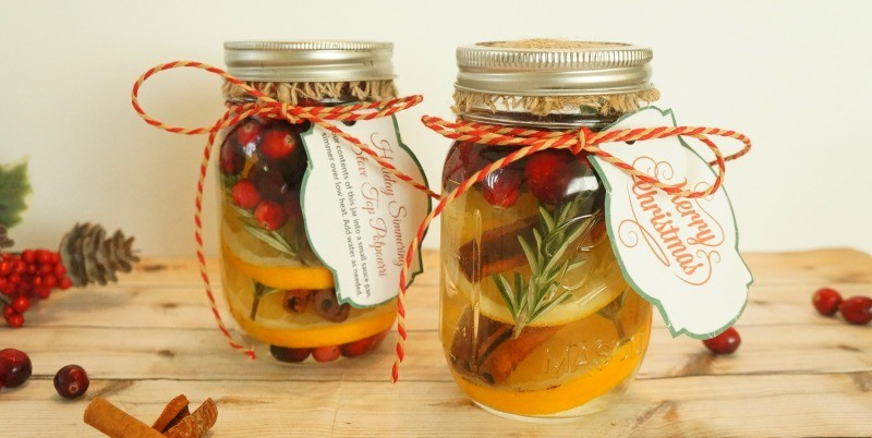 Make Your Own Cranberry Orange Stove Top Potpourri Holiday Gift Jars