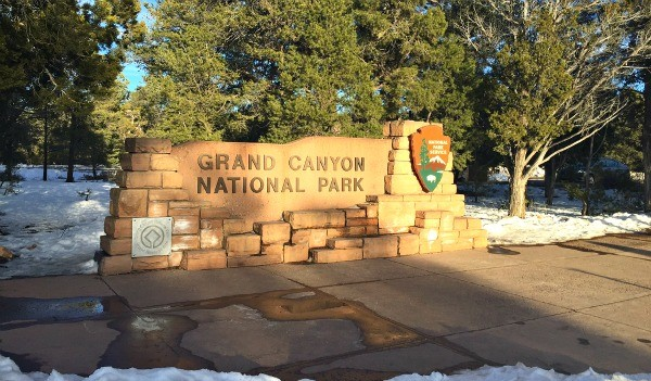 Grand Canyon Road Trip, Grand Canyon National Park sign