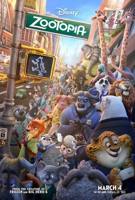 Disney's ZOOTOPIA Movie in theaters March 4 2016