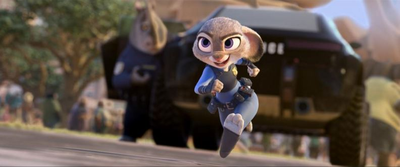 Disney's ZOOTOPIA movie Hopps running still