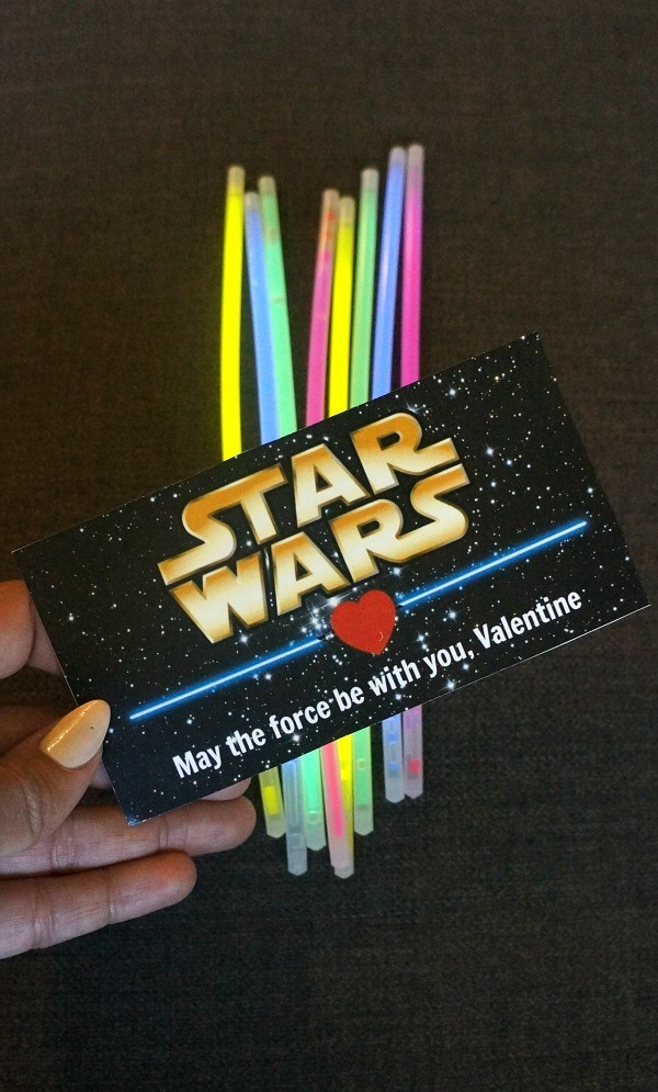 graphic relating to Lightsaber Printable named Star Wars Printable Valentines: Lightsaber Shine Adhere